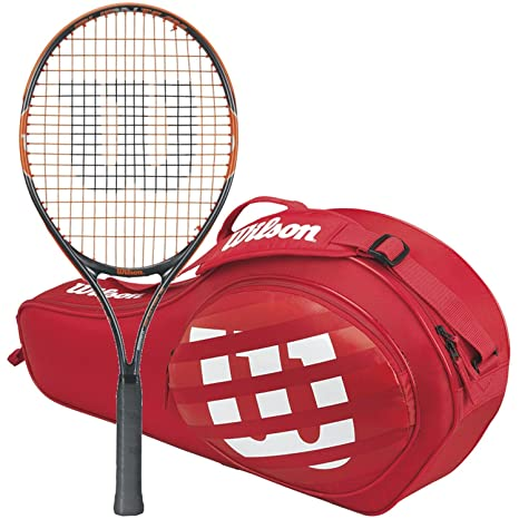 WILSON Burn Team Racchetta da Tennis Junior con Una Borsa da