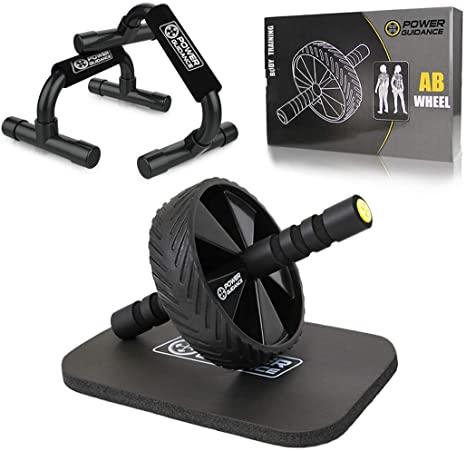 AB Wheel Roller nero - POWER GUIDANCE - Ruota Allenamento Attrezzo